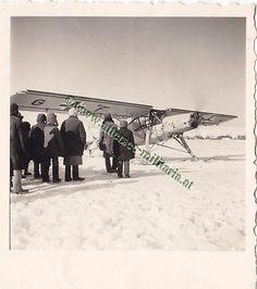 Privat Foto Fieseler Storch Fi 156 Flugzeug Winter Kufen Feldaufnahme Balkenkreu Militaria, Felder, Us Air Force, Antarctica, Plane, Ms, Aircraft, German, Winter