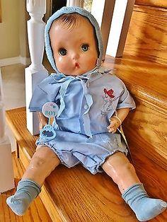 "Vintage Horsman 1937 RARE Brother Baby Doll Composition 21"" Horseman Boy Antique"