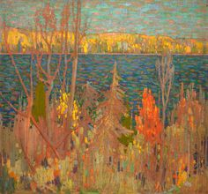 Seeking superior fine art prints of Golden Autumn by Tom Thomson? Group Of Seven Art, Group Of Seven Paintings, Emily Carr, Canadian Painters, Canadian Artists, Landscape Art, Landscape Paintings, Tom Thomson Paintings, Munier
