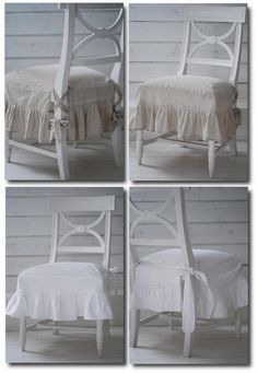 Swedish Chairs With Linen Slipcovers from Biskops Garden Chintz, Cording, Drapery, French Pleating, French Ticking, Ruffles, Slipcovering, Gustavian, Swedish Decorating, Rustic Furniture, Distressed Furniture, French Furniture, Swedish Furniture