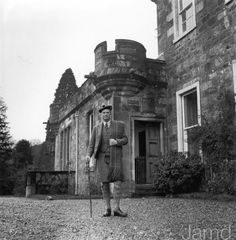 Colonel Sir Donald Hamish Cameron of Lochiel (1910 - 2004), Laird of Achnacarry Castle and XXVI Chieftain of Clan Cameron, 29th December 1955. (Photo by Chris Ware/Keystone Features/Hulton Archive/Getty Images)