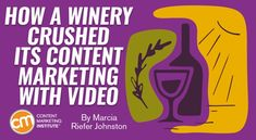 How a Winery Crushed Its Content Marketing With Video http://www.charlesmilander.com/news/2018/02/how-a-winery-crushed-its-content-marketing-with-video/ Start making money on  socialmedia. http://amzn.to/2hGcMDx