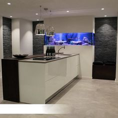 Aquarium produced by Aquaja fitted in a kitchen!