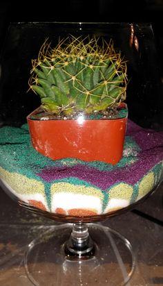 Terrarium in a Glass – Cactus & Succulents