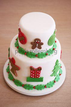 bolo de natal decorado - Pesquisa Google