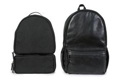 """The Leather Clifton backpack is handcrafted from full-grain Italian leather and is designed to hold a 13"""" laptop as well as books, papers, gym clothes, and more. The backpack is accompanied by two organizational inserts, which fit seamlessly inside the backpack and can be completely removed if desired. The inserts can accommodate 1 DSLR camera with a lens attached and 4-6 additional lenses. A front zipped pocket is perfect for storing pens and small accessories. A layer of air mesh along the…"""
