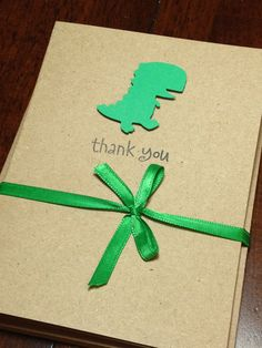 Dinosaur Baby Shower Thank You Note Card Set by DesigningMoments, $8.00