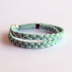 mint braided bracelet