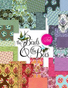 FabricWorm: The Birds and the Bees by Tula Pink