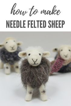 Needle felting kits and patterns for complete beginners to advanced needle felters. Needle felted Herdwick Sheep are the perfect way to start. Or buy one ready made; the perfect Herdwick Sheep gift Post Caption Needle Felting Kits, Needle Felting Tutorials, Needle Felted Animals, Wet Felting, Felt Animals, Christmas Needle Felting, Crochet Animals, Sheep Crafts, Felt Crafts
