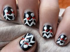 Three Days Grace Nails not much of a girly girl,but I need this done to my nails.-Desi cakes<<<< it looks Really EASY to do To Be Honest Three Days Grace, Hair And Nails, My Nails, Band Nails, Music Nails, Nail Tattoo, Nail Treatment, Band Merch, Cute Nail Designs