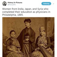 Woman physicians- Not so suppressed in the good Ol' USA after all. - - Woman physicians- Not so suppressed in the good Ol' USA after all. Cool Ärztinnen – in den guten alten USA doch nicht so unterdrückt. Faith In Humanity Restored, Wtf Fun Facts, Random Facts, Funny Facts, Funny Memes, Badass Women, Women In History, Asian History, British History