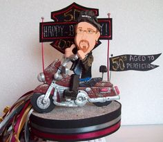 DIRT BIKE / MOTORCYCLE CAKE TOPPER created to look like you