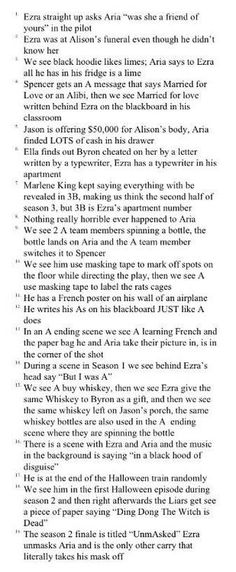 When PLL hinted that Ezra is part of the A Team. | Pretty Little Liars