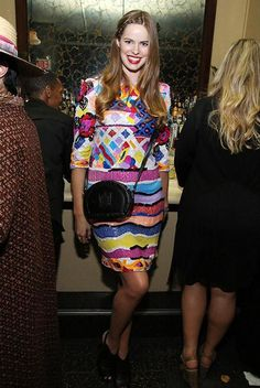 Model Robyn Lawley wore a beautifully sequined dress with a side braid to a private party for the Lana Del Rey H line.