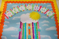 This section includes funny Back to school bulletin board ideas, color posters. This section has a lot of bulletin board ideas for preschool teachers. Rainbow Bulletin Boards, Welcome Bulletin Boards, Kindergarten Bulletin Boards, Back To School Bulletin Boards, Classroom Bulletin Boards, Classroom Door, Classroom Themes, Preschool Classroom Decor, Classroom Organization
