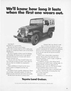 On the Subject of: The Toyota Land Cruiser. Toyota Lc, Toyota Fj40, Toyota Trucks, Toyota Cars, Land Cruiser 4x4, Toyota Land Cruiser, Jeep 4x4, Jeep Truck, Japanese Cars
