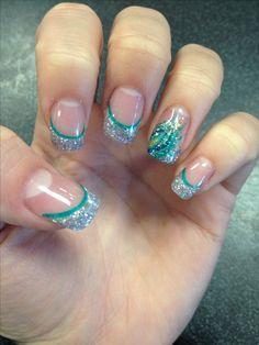 Peacock nail #gelnails