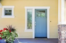 Nice 54 Cool Yellow Exterior House Paint Colors. More at https://trendecor.co/2017/11/25/54-cool-yellow-exterior-house-paint-colors/