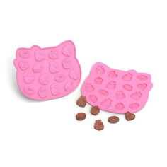 pink Hello Kitty silicone chocolate chocochips mold