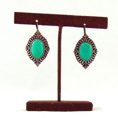 Antique Silver and Turquoise Concho Earrings