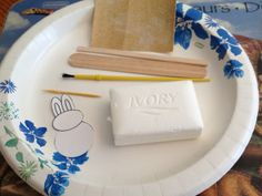 This is great step by step example with pictures of how to do soap carving with kids. Summer Reading Program 2015, CSLP children's manual page 92. Instead of a rabbit like on this website, carve something from Greek Mythology. Heroes