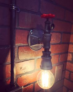A personal favorite from my Etsy shop https://www.etsy.com/listing/278467302/steampunk-industrial-wall-sconce-light