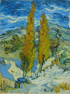 Vincent van Gogh, The Poplars at Saint-Rémy, 1889 on ArtStack #vincent-van-gogh #art