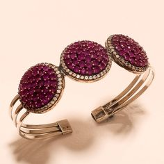 Ruby Gemstone 925 Sterling Silver Pendant Gift Ottoman Handmade Turkish Emerald Engagement & Wedding