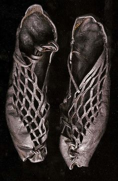 bog shoes found on an iron age bog person. Goes to show that fashion is timeless!!