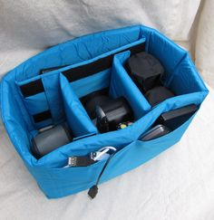 Bag inserts for camera equipment