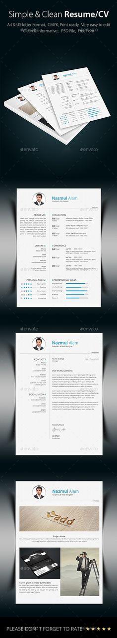Resume Resume cv, Cv template and Photoshop illustrator - cv it professional