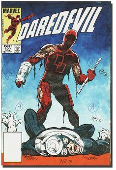 Daredevil #200 Cover Color Guide Comic Art