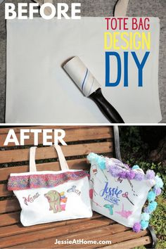 Makeover that plane tote bag with these awesome ideas! Grab a polyester tote bag and sublimate (heat transfer) whatever you can imagine, then add some fun trim. Use those yarn scraps to make a knit or crochet tote bag trim. Grab your novelty yarn or fabric scraps to decorate your custom tote bag. Use this personalized tote bag DIY tutorial to make a quick and easy DIY gift. Make a cute tote bag to show off your business logo, go for some Pride DIY, make bags for your team, the sky's the limit! Custom Tote Bags, Personalized Tote Bags, Diy Tote Bag, Diy Bags, Easy Diy Gifts, Crochet Tote, Canvas Tote Bags, Diy Design