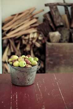 Farm apples -- like the ones we used to pick at our Grandparent's house