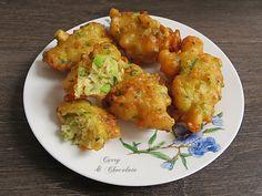 Buñuelos de gambas y calabacín - Prawn and zucchini fritters