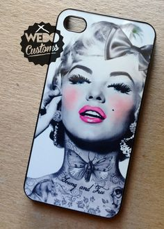 Protect your tech in STYLE with this super badass MARiLYN MONROE design for your iPhone 4 / iPhone 5 / Galaxy 3 / Galaxy 4!  Crispy bright image on a slim, hard case. Let your phone cover do all the talking.  ============  We keep it funky & fresh! Each case is handmade with a unique dye tr...