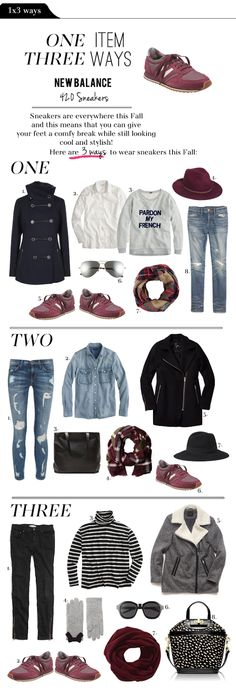 1x3 Ways: How to Wear Sneakers for Fall