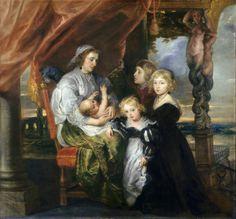 Deborah Kip, Wife of Sir Balthasar Gerbier, and Her Children, 1629-30, National Gallery of Art, Washington, D.C.