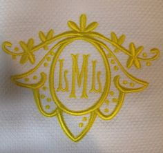 Number Four Eleven: Pretty Colorful Monograms...| fun color, lovely shape