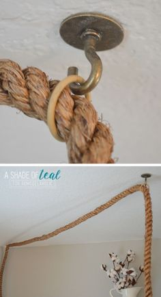 tip to hang a pendant light with a thick rope cord