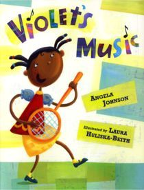 Ages 4 and up - There's nothing Violet loves more than music, and she plays or sings every chance she gets.  But where are the other kids like her-kids who think and dream music all day long?  As a baby, in kindergarten, at the beach and the zoo, she never gives up looking for companions.  And then one summer day...