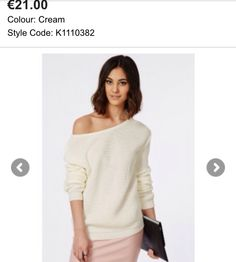 Missguided, off the shoulder knit jumper!