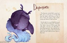 Artist Suffering From Anxiety Shows What Mental Illnesses Would Look Like as Monsters