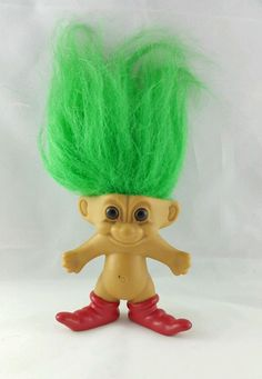 Old Troll Dolls Red Shoes