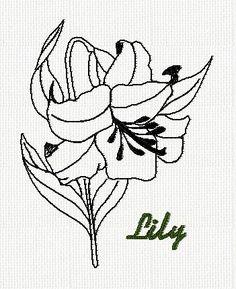 botanical-jonquil-flower-redwork-embroidery