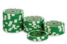 Rouleau de 25 jetons Laser Deluxe 25 - Pokeo.fr - Rouleau de 25 jetons de poker Laser Deluxe 25 vert en PP stické 11,5g pour joueurs débutants.