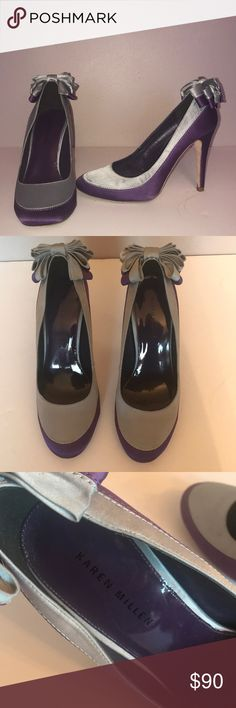 Karen Millen 2 tone shoes with back bows 🔥🔥 Size 8 only worn once in excellent condition super sexy Karen Millen Shoes Heels