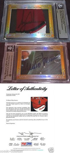 Golf Cards 4240: Tiger Woods And Mark O Meara 2013 Leaf Masterpiece Cut Signature Auto 1 1 Psa Dna -> BUY IT NOW ONLY: $389.99 on eBay!