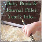 baby book and journal filler